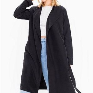 American Apparel Dylan Trench Coat Off - Black